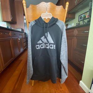 Adidas Black and Grey Hoodie